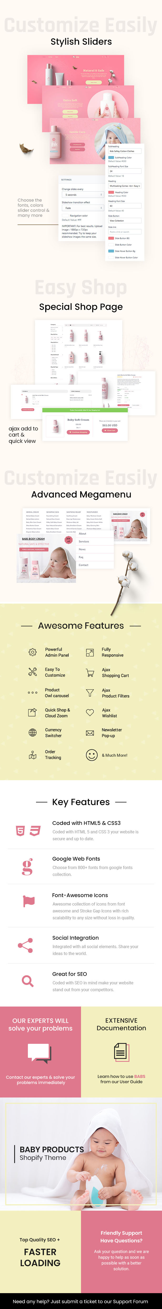 Babs - Baby Shop Shopify Theme - 1