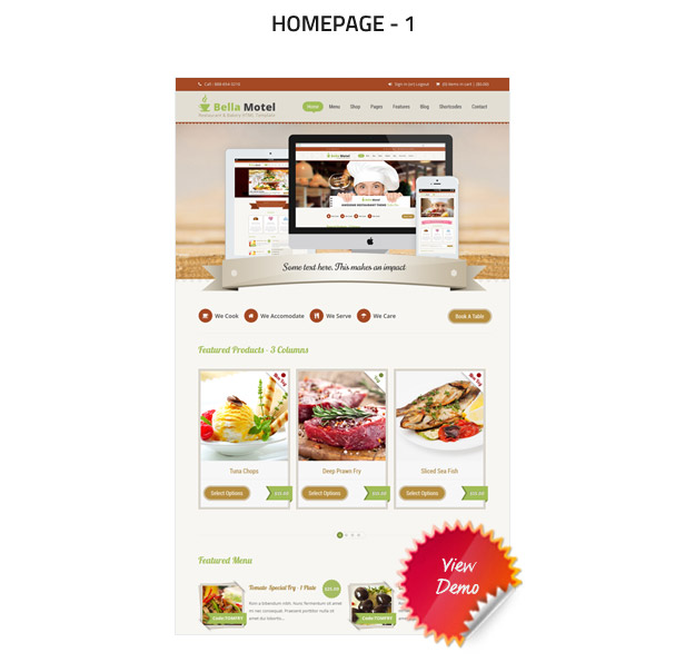 BellaMotel - Food, Restaurant Recipe HTML - 3