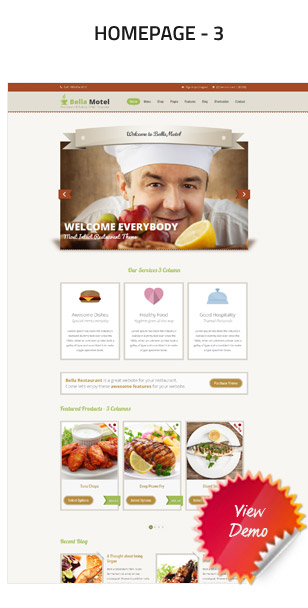 BellaMotel - Food, Restaurant Recipe HTML - 5