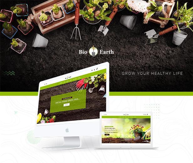Bio Earth - Landscaping & Gardening Service Shopify Theme - 1