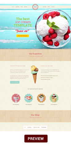 Food & Beverage Company One Page HTML - 8