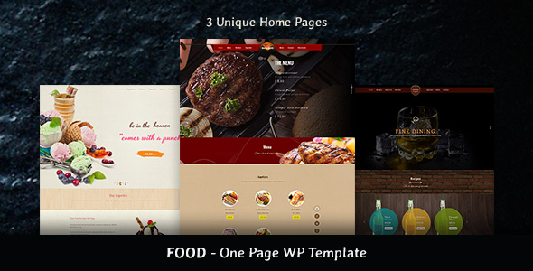 Food & Beverages One Page HTML5 Template - 1