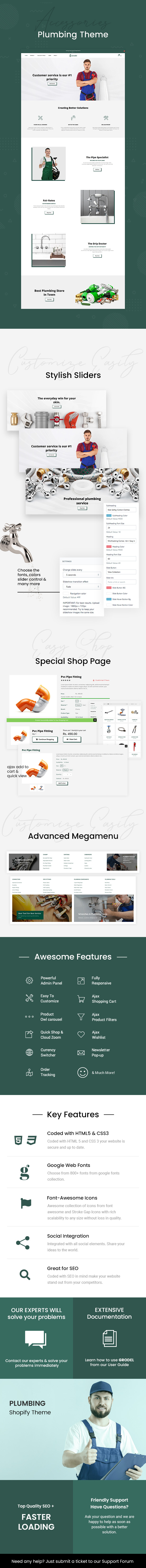 Grodel - Plumbing & Tools Store Shopify Theme - 1