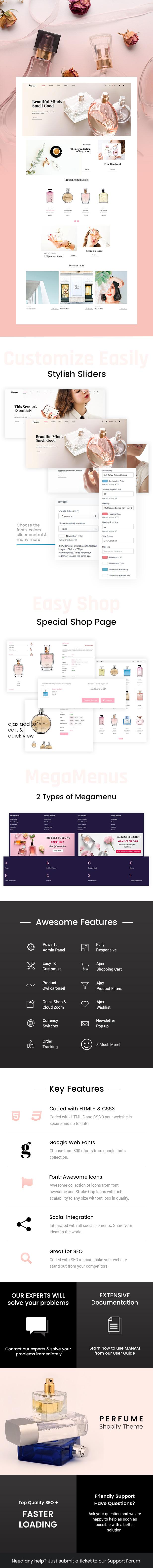 Manam - Perfumes, Cosmetic Shop Shopify Theme - 1