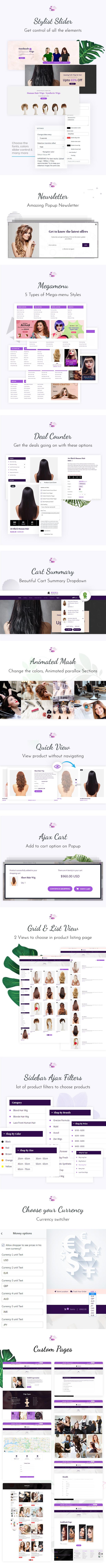 Muhil | Hair Wig & Hair Salon Shopify Theme - 2