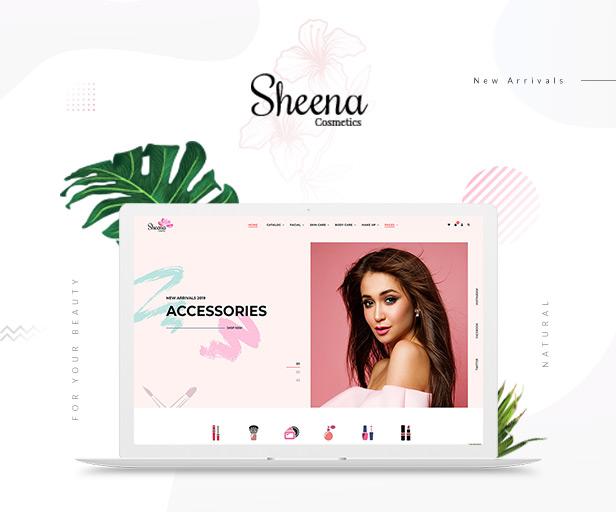 Sheena - Cosmetics Shopify Theme - 1