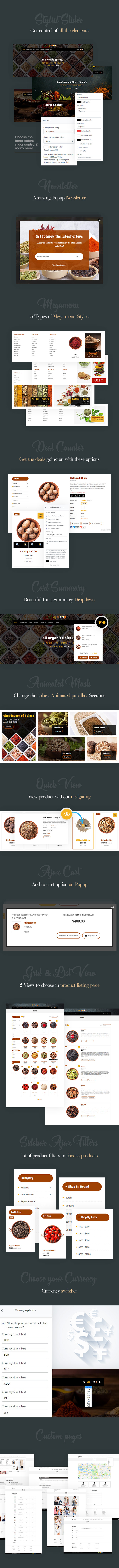 Waffy | Spices, Dry Fruits and Nuts Organic shop Shopify Theme - 3