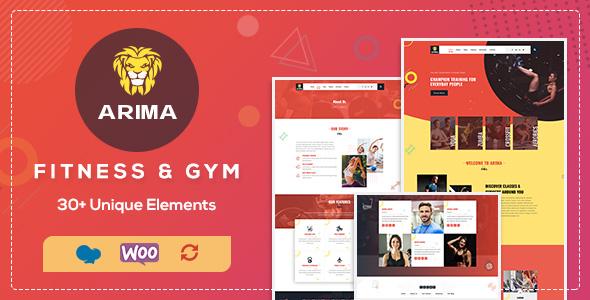Arima | Fitness, Gym PSD Template - 1