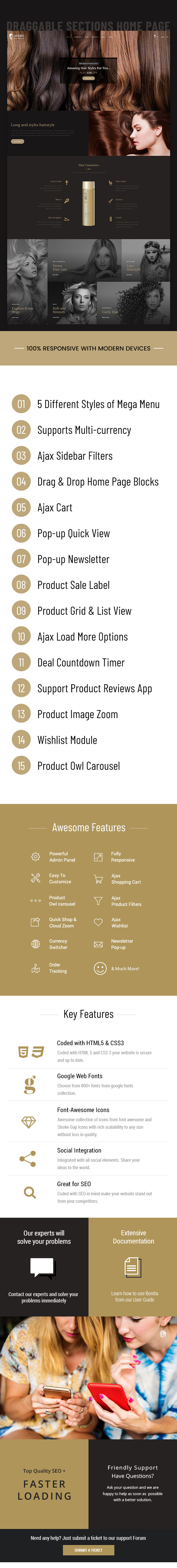 Avery   Hair Wig, Extension Shopify Theme - 1