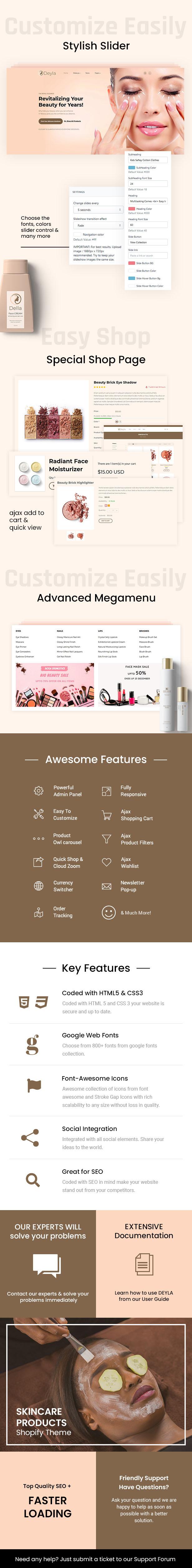 Deyla - Beauty and Cosmetics Store Shopify Theme - 1
