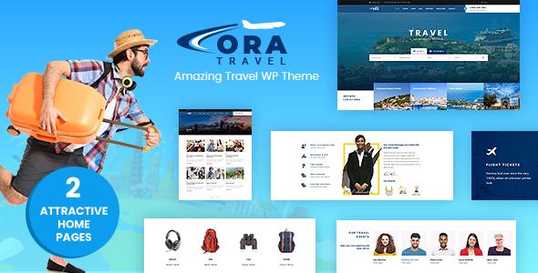 Ora | Travel & Hotel Booking PSD - 1