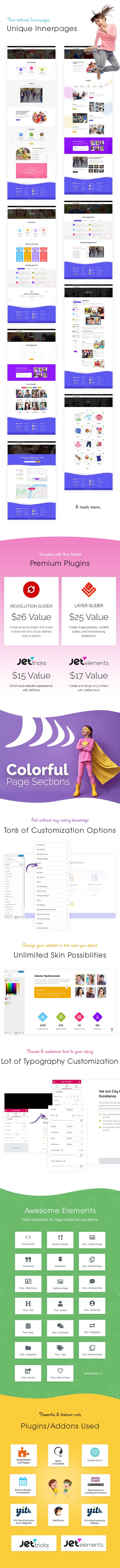 Pallikoodam - Kids School WordPress Theme - 1