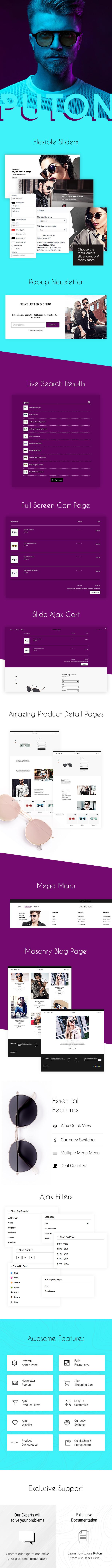 Puton | Sunglasses Fashion Store Shopify Theme - 1