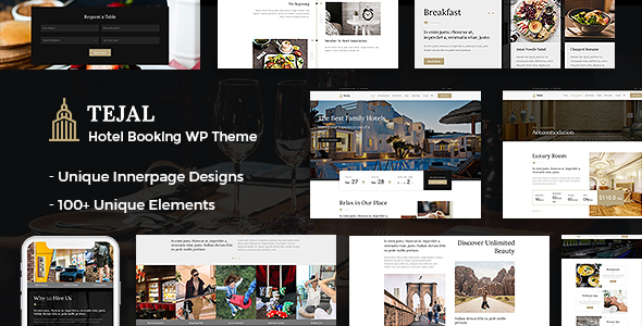 Tejal | Hotel Booking PSD Template - 1