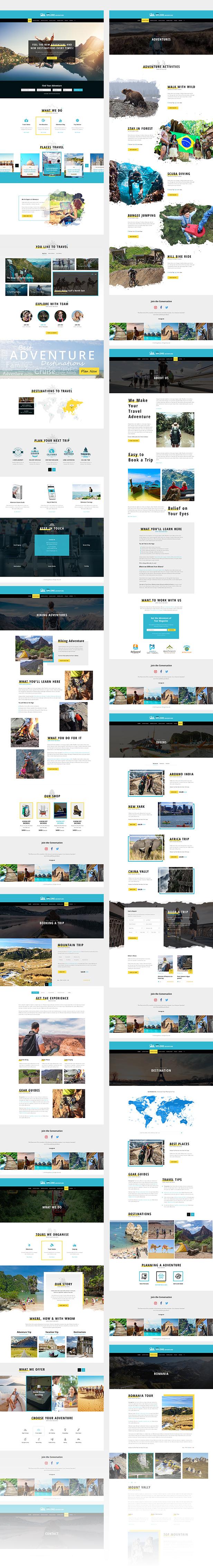 Xplore - Adventure and Travel PSD Template - 1
